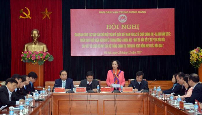 MTTQ Việt Nam và các tổ chức chính trị - xã hội cần quyết liệt phòng, chống tham nhũng