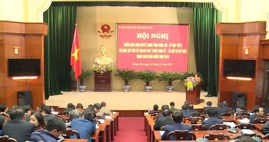 Năm 2018, Hưng Yên phấn đấu thu ngân sách đạt trên 12.000 tỉ đồng