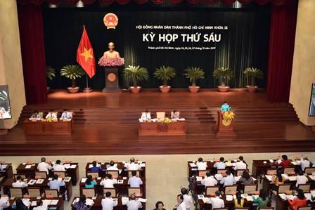 Khai mạc kỳ họp thứ 6 HĐND TP Hồ Chí Minh khóa IX
