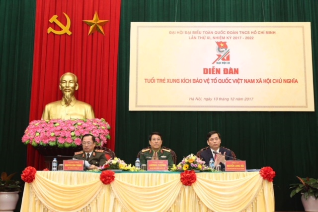 Tuổi trẻ xung kích bảo vệ Tổ quốc Việt Nam xã hội chủ nghĩa