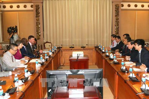 Lãnh đạo TP Hồ Chí Minh tiếp Phó Chủ tịch Ngân hàng Thế giới