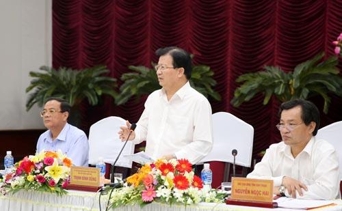 Phó Thủ tướng Trịnh Đình Dũng: Bình Thuận cần xây dựng cơ chế, đặc thù riêng để thu hút đầu tư