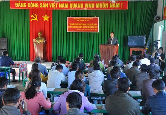 Kon Tum: Tập huấn tuyên truyền, giáo dục pháp luật cho cán bộ, người có uy tín các thôn, xã biên giới  