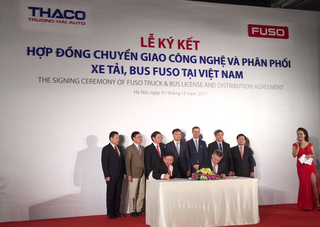 Thaco chính thức phân phối xe tải, xe bus thương hiệu Fuso tại Việt Nam