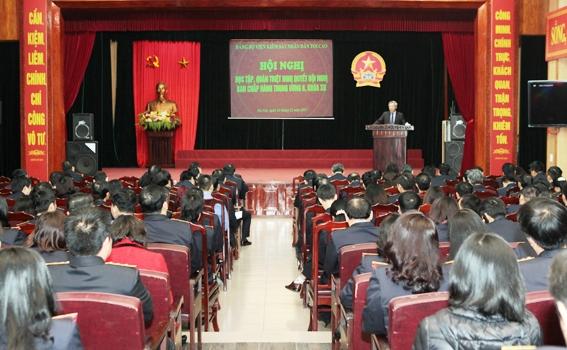 Đảng bộ Viện kiểm sát nhân dân tối cao học tập, quán triệt Nghị quyết Trung ương 6 khoá XII