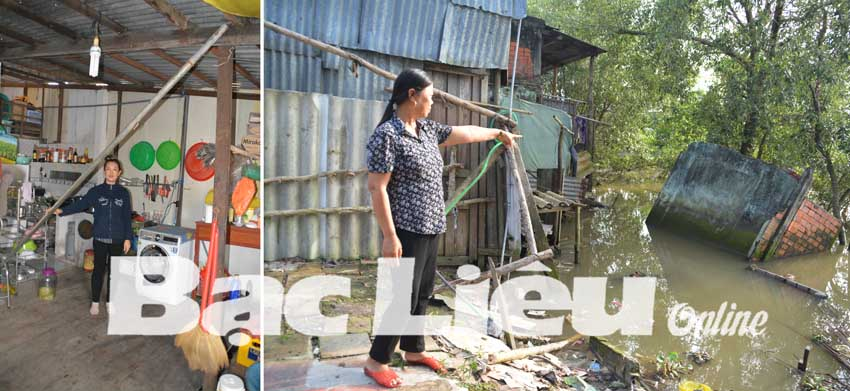 Người dân bất an với nạn sạt lở đất ở tuyến kênh xáng Bạc Liêu - Cà Mau