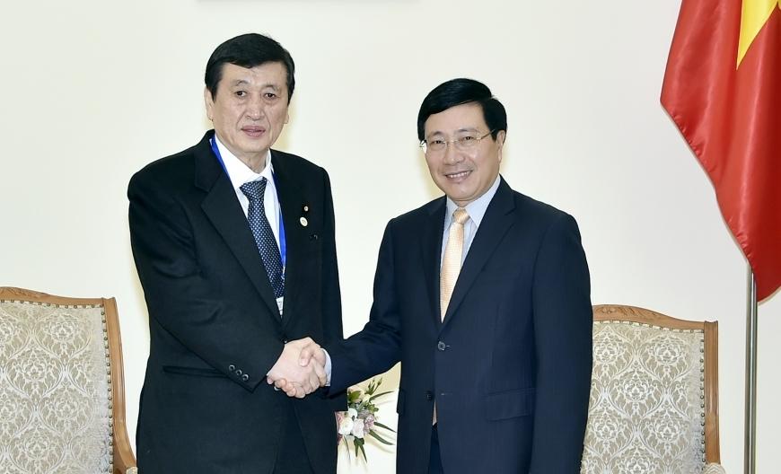 Phó Thủ tướng Phạm Bình Minh: Việt Nam coi trọng quan hệ với Nhật Bản