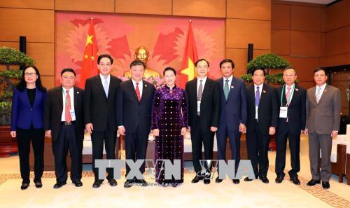 Chủ tịch Quốc hội tiếp Phó Chủ tịch Quốc hội Trung Quốc