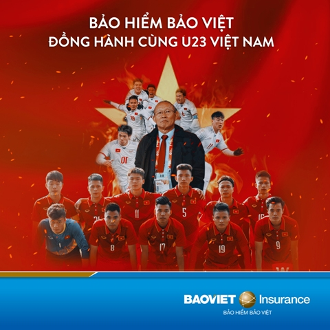 Bảo hiểm Bảo Việt đồng hành cùng U23 Việt Nam