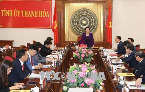 Chủ tịch Quốc hội: Thanh Hóa cần rút kinh nghiệm sâu sắc về công tác cán bộ