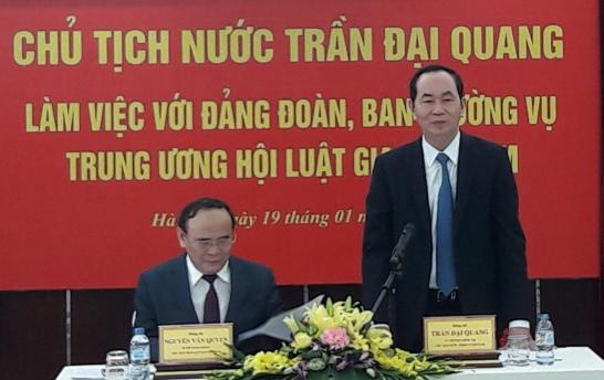 Chủ tịch nước làm việc với Ban Thường vụ Trung ương Hội Luật gia Việt Nam