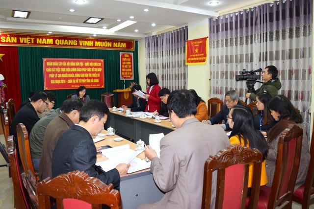 Hội đồng Dân tộc của Quốc hội khảo sát công tác trợ giúp pháp lý tại Hà Giang