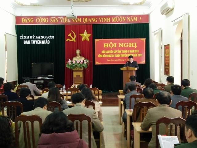 Lạng Sơn chú trọng nâng cao chất lượng công tác tuyên truyền miệng, báo cáo viên