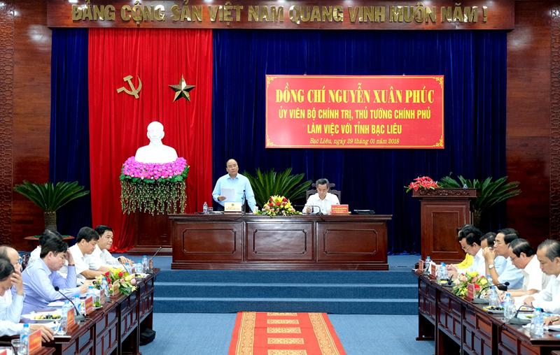 Thủ tướng Nguyễn Xuân Phúc: Bạc Liêu cần phát triển theo hướng xanh với 4 trụ cột