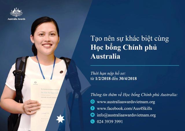 Cơ hội nhận Học bổng Chính phủ Australia 2018