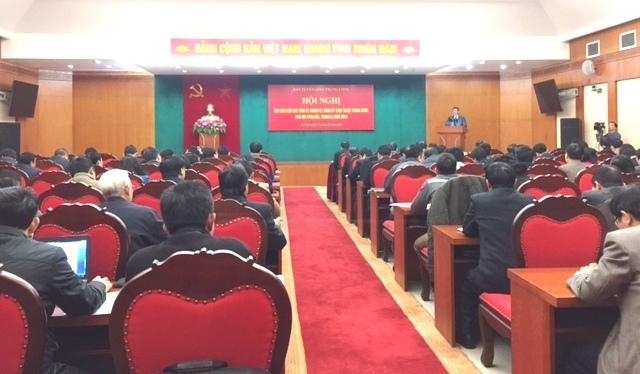 Hội nghị Báo cáo viên các tỉnh ủy, thành ủy, đảng ủy trực thuộc Trung ương khu vực phía Bắc, tháng 1/2018