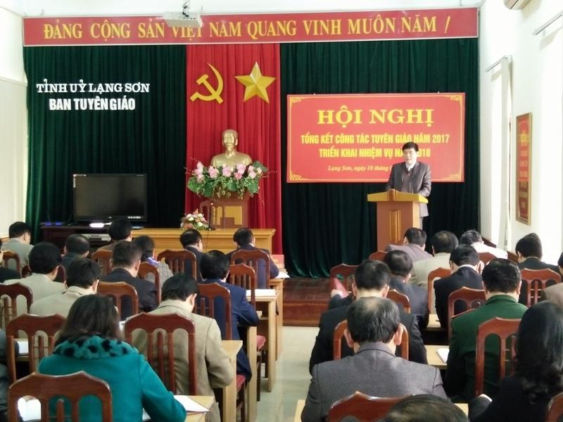 Lạng Sơn: Chủ động thực hiện các nhiệm vụ công tác Tuyên giáo năm 2018