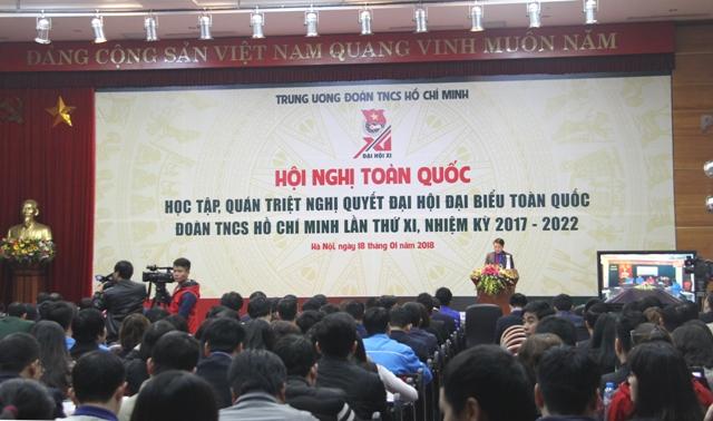 Hội nghị trực tuyến toàn quốc học tập, quán triệt Nghị quyết Đại hội Đoàn TNCS Hồ Chí Minh lần thứ XI