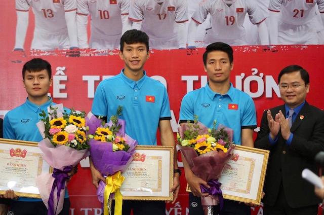 Quỹ Hỗ trợ Tài năng trẻ tặng thưởng cho đội tuyển U23 Việt Nam