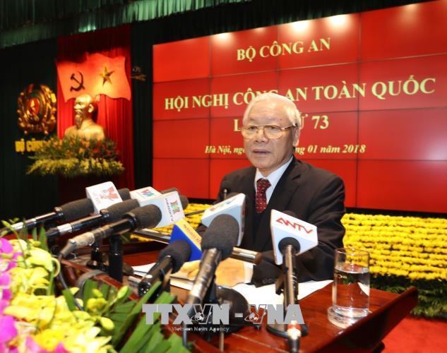Toàn văn phát biểu của Tổng Bí thư Nguyễn Phú Trọng tại Hội nghị Công an toàn quốc