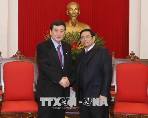 Trưởng Ban Tổ chức Trung ương Phạm Minh Chính tiếp Đoàn Nghị sĩ Quốc hội Nhật Bản