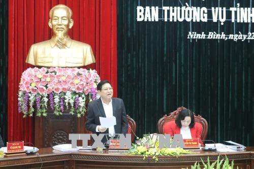 Đồng chí Ngô Xuân Lịch chỉ đạo kiểm điểm tự phê bình và phê bình của Ban Thường vụ Tỉnh ủy Ninh Bình