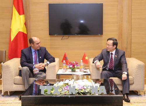 Phó Chủ tịch Quốc hội Phùng Quốc Hiển tiếp Đoàn đại biểu Vương quốc Maroc