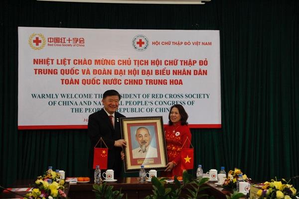 Tăng cường hơn nữa mối quan hệ giữa Hội Chữ thập đỏ Việt Nam và Hội Chữ thập đỏ Trung Quốc