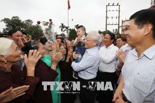 Tổng Bí thư Nguyễn Phú Trọng trả lời phỏng vấn TTXVN dịp Xuân Mậu Tuất 2018: Lòng dân - thế nước