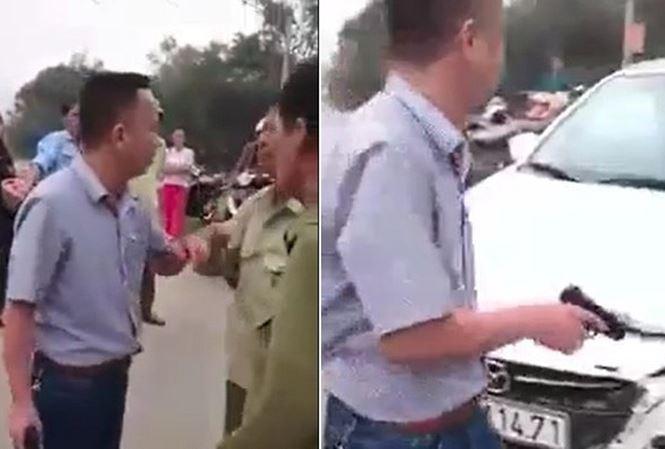 Hà Tĩnh: Làm rõ vụ va chạm giao thông rút súng giả uy hiếp, đe dọa người khác