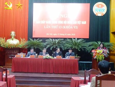 Hội Nông dân Việt Nam triển khai nhiệm vụ công tác năm 2018