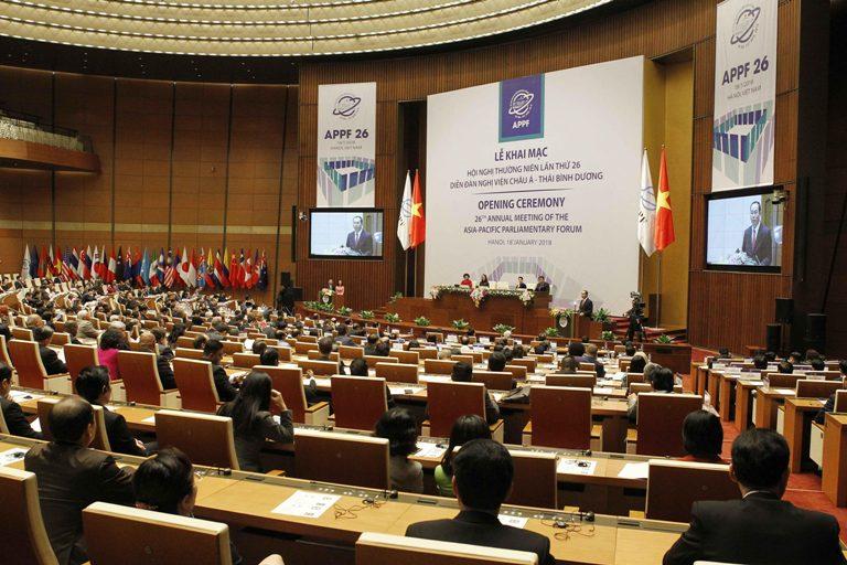 Khai mạc Hội nghị thường niên lần thứ 26 Diễn đàn Nghị viện châu Á - Thái Bình Dương