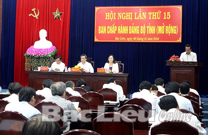 Hội nghị BCH Đảng bộ tỉnh lần thứ 15: Thống nhất ý chí và hành động vì mục tiêu tăng trưởng bền vững