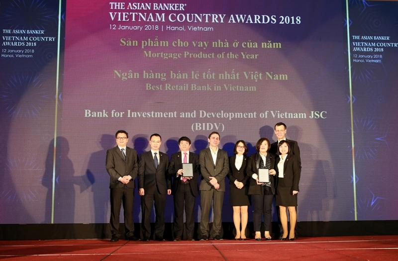BIDV được bình chọn là ngân hàng bán lẻ tốt nhất Việt Nam 4 năm liên tiếp