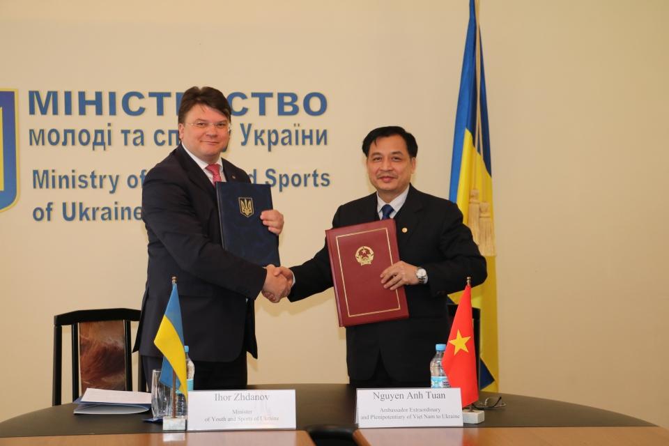 Việt Nam và Ukraine tăng cường hợp tác trong lĩnh vực thể dục thể thao
