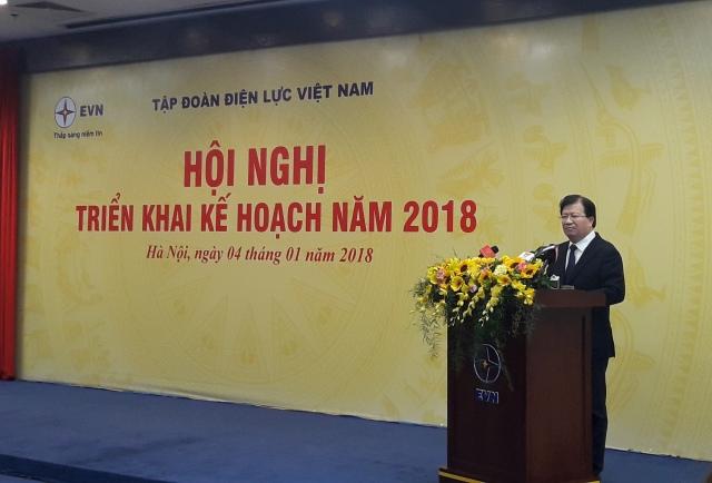 Tập đoàn Điện lực Việt Nam hoàn thành tốt nhiệm vụ năm 2017