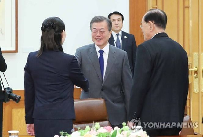 Tổng thống Hàn Quốc tiếp các quan chức cấp cao của Triều Tiên