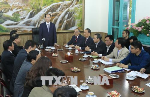 Chủ tịch nước làm việc với Văn phòng Thường trực Ban Chỉ đạo Cải cách tư pháp Trung ương