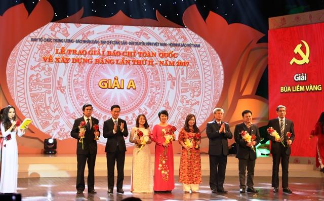 54 tác phẩm báo chí xuất sắc được trao giải Búa liềm vàng