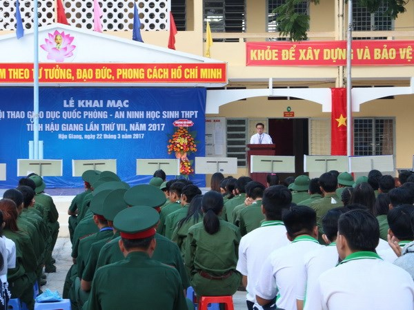Tổ chức triển khai giáo dục quốc phòng và an ninh năm 2018
