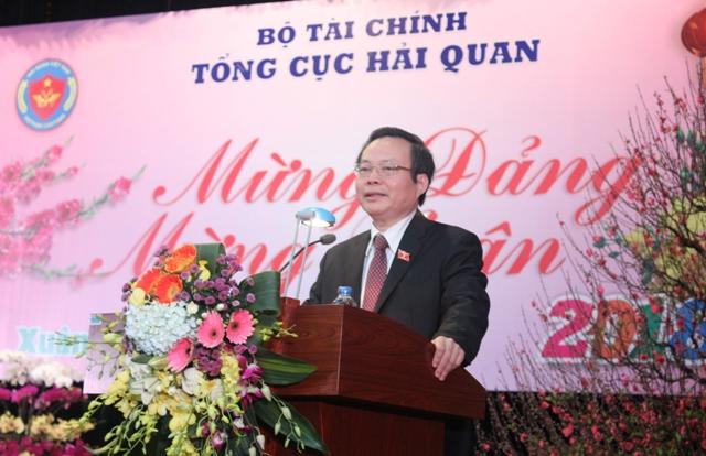 Phó Chủ tịch Quốc hội Phùng Quốc Hiển chúc Tết cán bộ, công chức, viên chức Tổng cục Hải quan