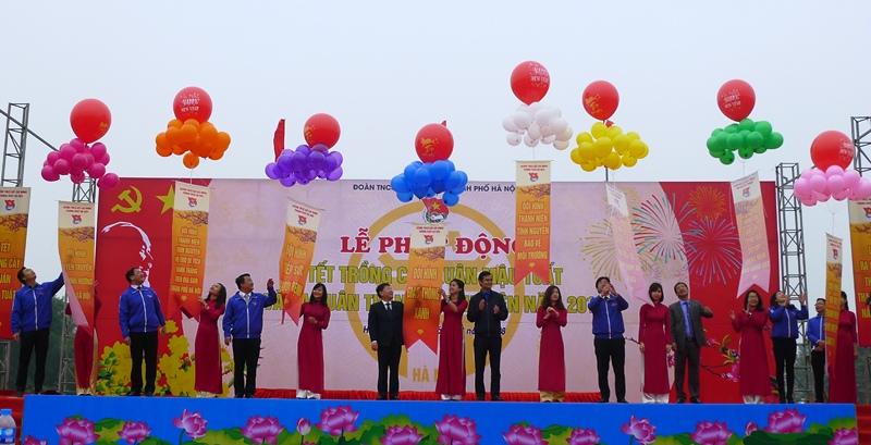 Nhiều hoạt động ý nghĩa của tuổi trẻ Thủ đô tại Lễ phát động Tháng thanh niên 2018