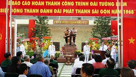 Hoàn thành công trình Đài tưởng niệm Biệt động thành đánh Đài phát thanh Sài Gòn 1968