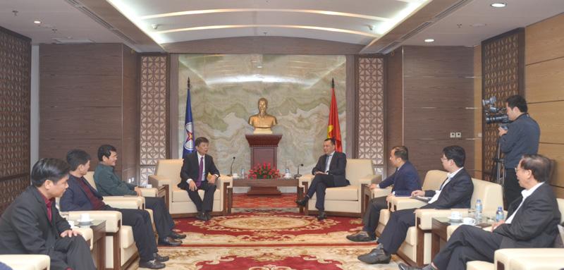 Tổng Giám đốc EVN Đặng Hoàng An làm việc với Chủ tịch UBND tỉnh Quảng Bình