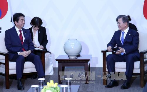 Tổng thống Moon Jae-in phản đối việc Nhật Bản kêu gọi Mỹ - Hàn thực hiện kế hoạch tập trận chung