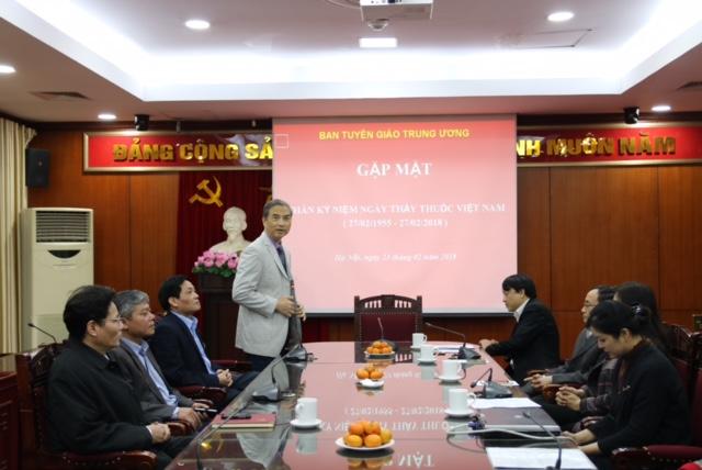 Ban Tuyên giáo Trung ương gặp mặt nhân ngày Ngày Thầy thuốc Việt Nam