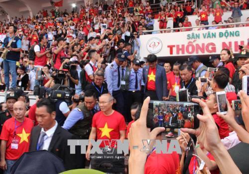 Đội tuyển U23 Việt Nam giao lưu với người hâm mộ bóng đá TP. Hồ Chí Minh