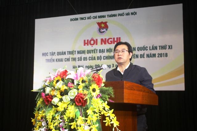 Thành đoàn Hà Nội học tập, quán triệt Nghị quyết Đại hội Đoàn toàn quốc lần thứ XI