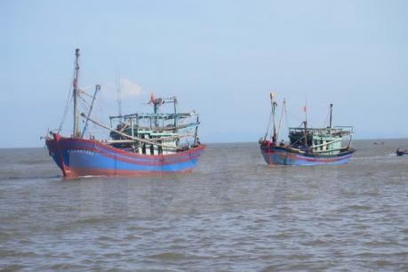 Kịp thời cứu nạn tàu câu mực bị hỏng máy trên biển