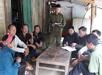 """Bản người La Hủ ở Lai Châu thực hiện quy ước """"không ma túy"""""""